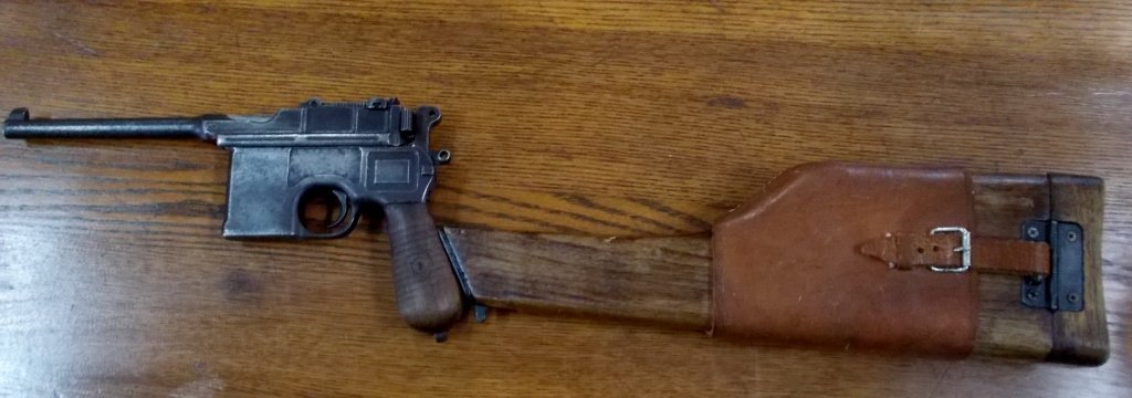 1899 Mauser Pistol with Dual Action Holster