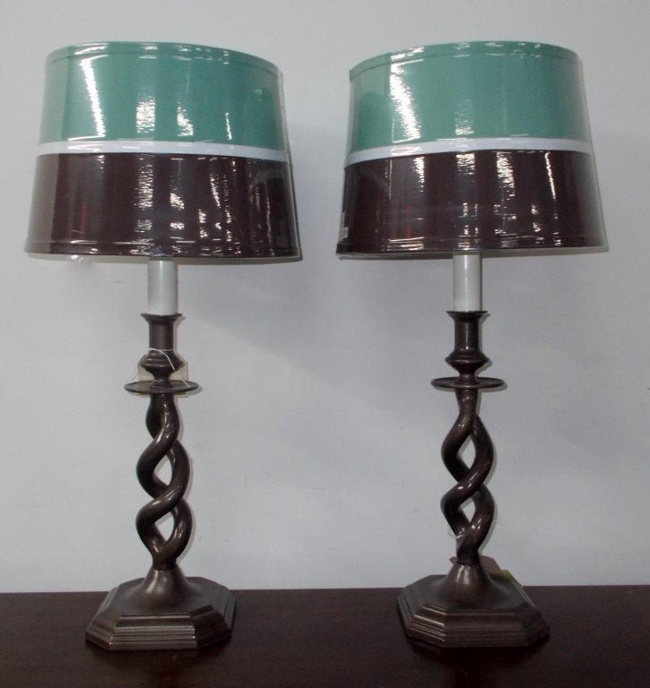 Teal and Brown Lamp