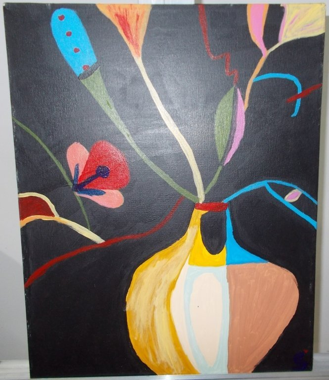 Acrylic Floral Painting