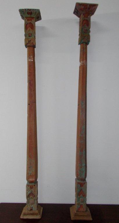 Wooden Totem Poles # 982