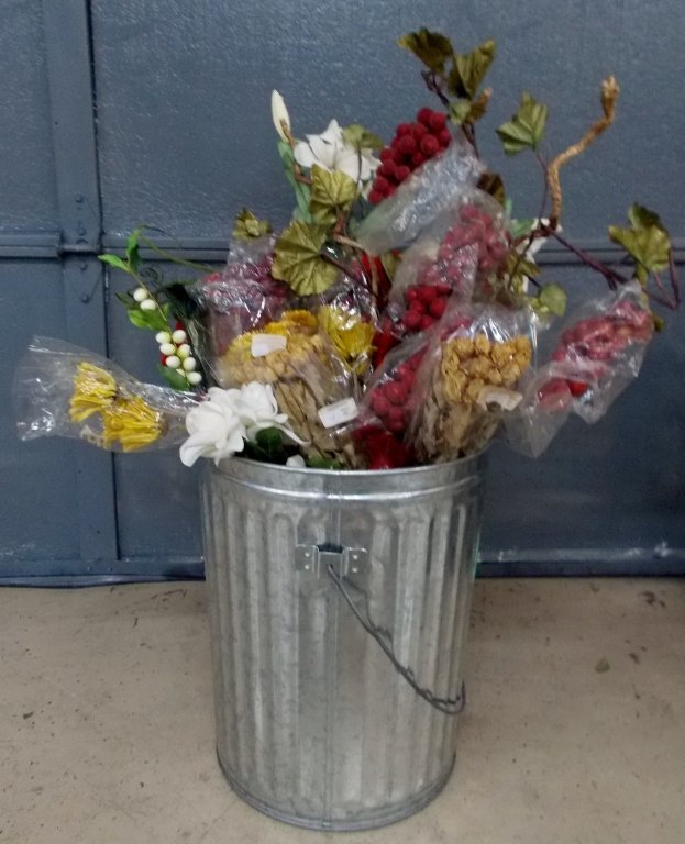 Flowers and Bin #848
