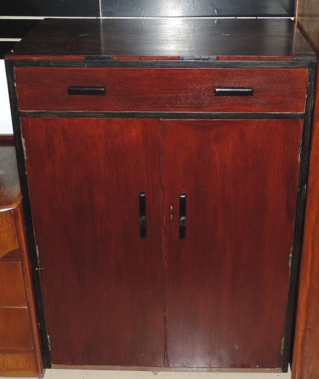 Dark Stain Wooden Dresser