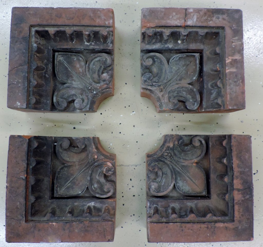 4 Architectural Salvage Stones*987