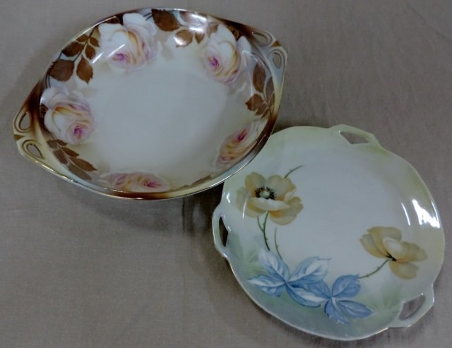 RS Germany Floral Bowl and Plate