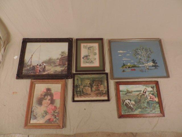Box Lot 6 Framed Art