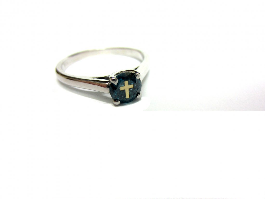 Diamond Ring 0.48 ct  engraved with 14 K yellow gold