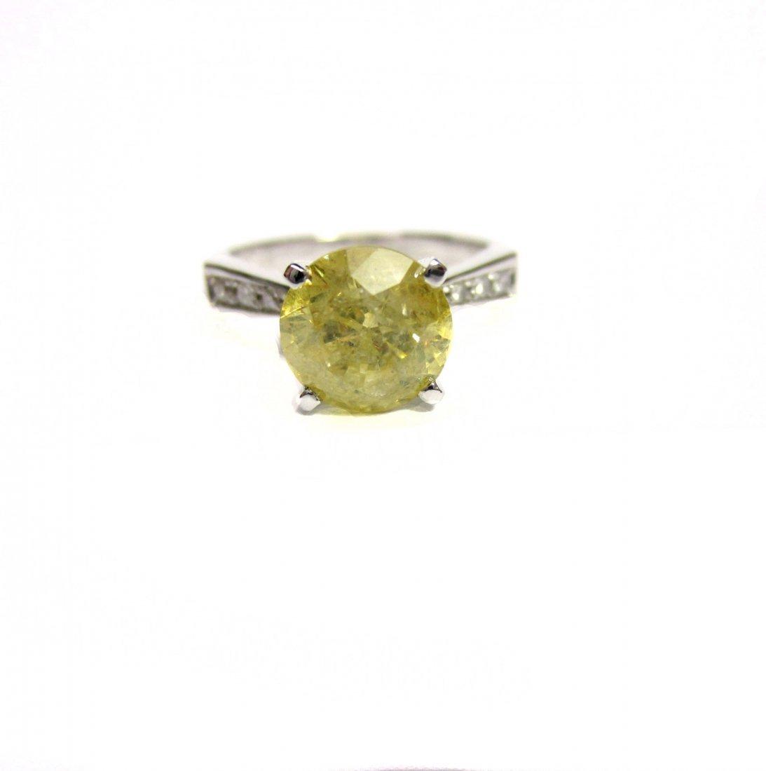 Diamond Ring 1.83 ct Total, Fancy Yellow