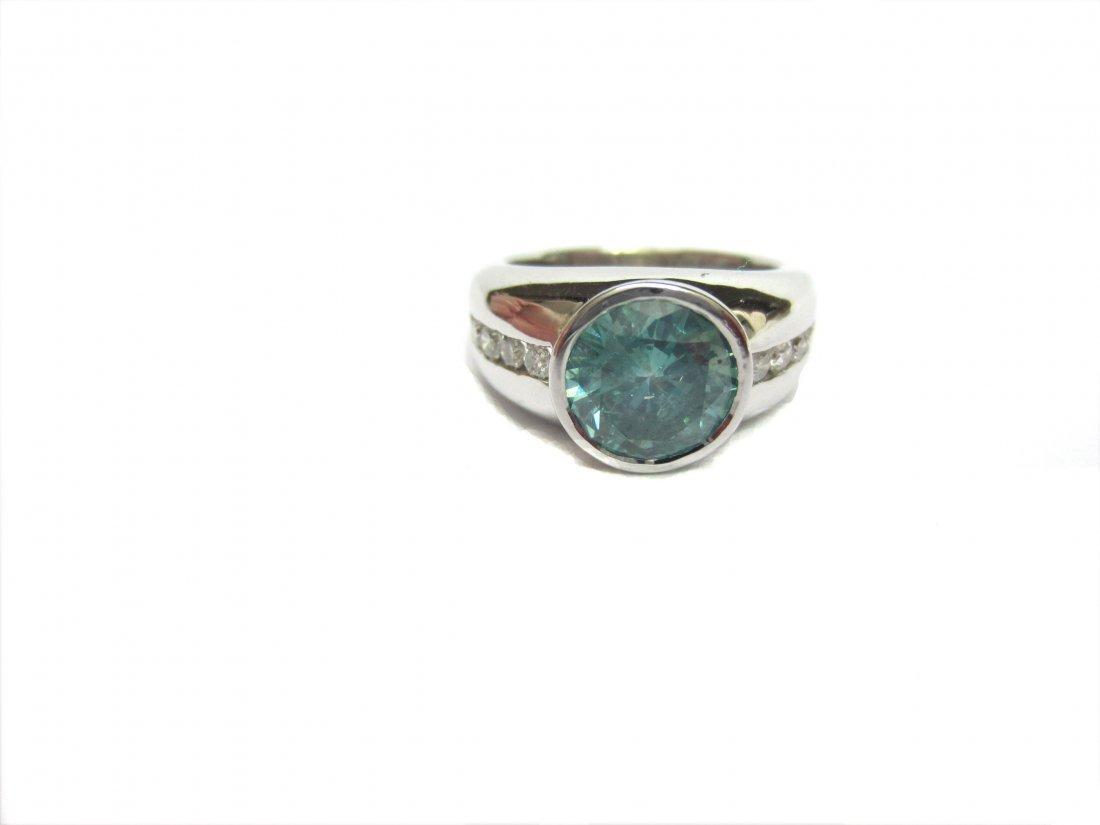 Diamond Ring 3.25 ct Total, Ocean