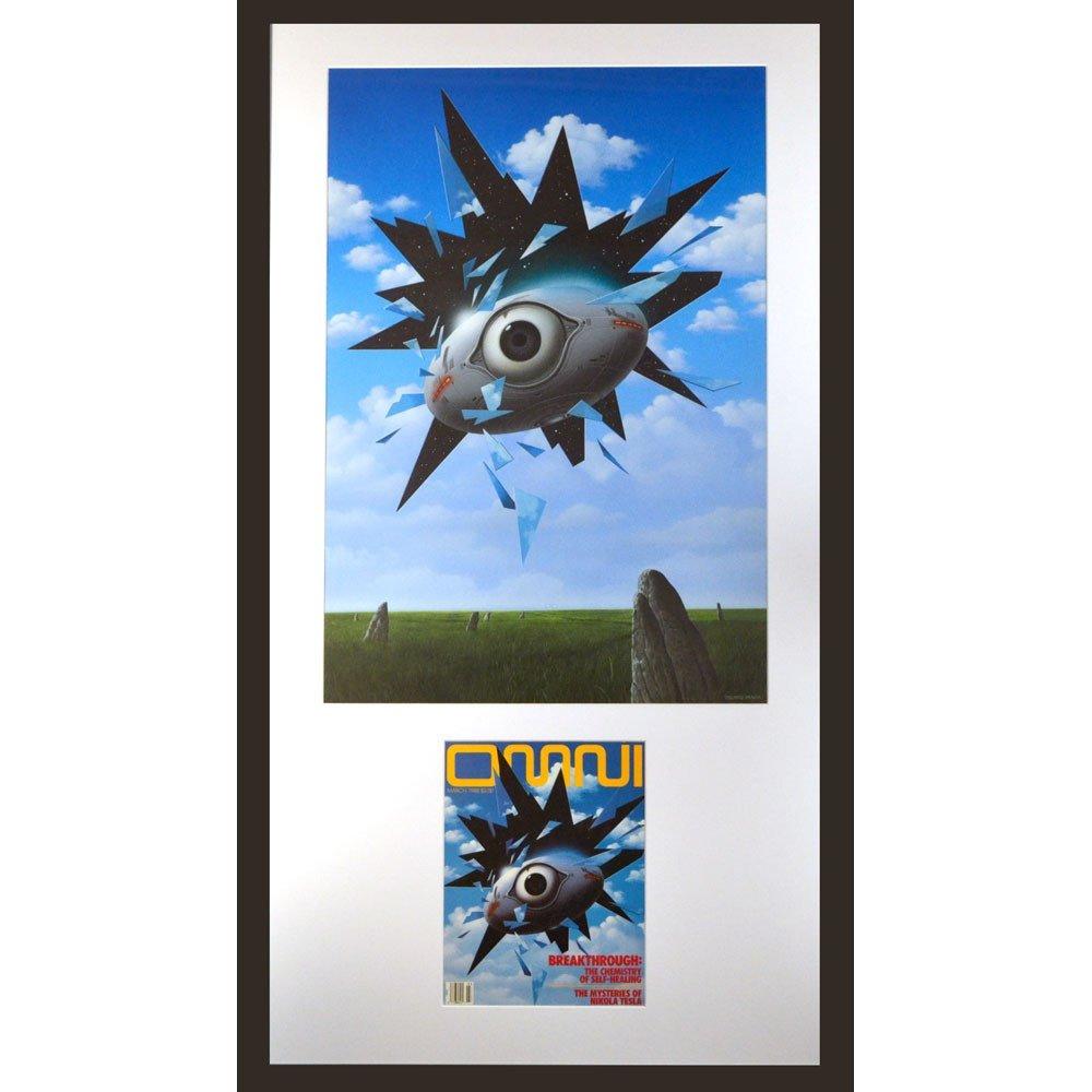 Original Framed Tsuneo Sanda Eye In The Sky Painting