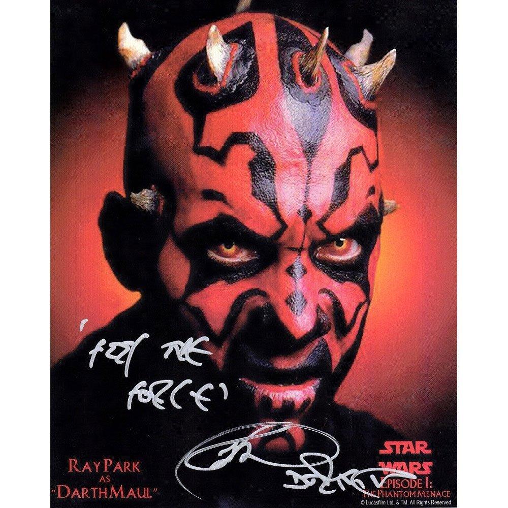 Orig Ray Park Signed Star Wars Darth Maul 8x10 Photo