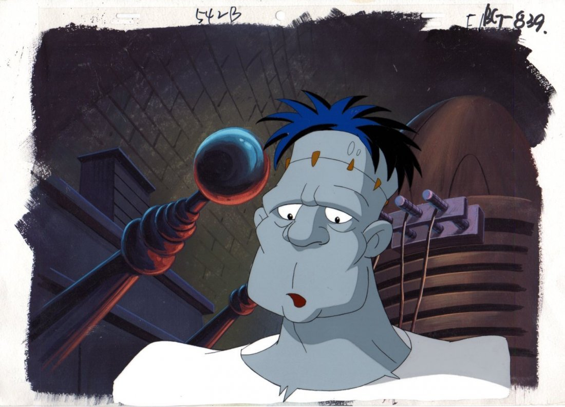 MONSTER MASH  MASTER BACKGROUND AND CEL from the 2000