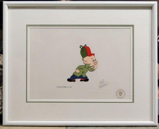 Elmer Fudd 1982 1001 Rabbit Tales Cel Framed