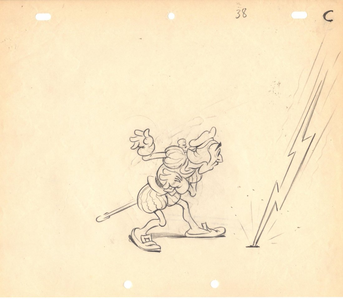 Original Art TERRYTOONS Animation Drawing '38