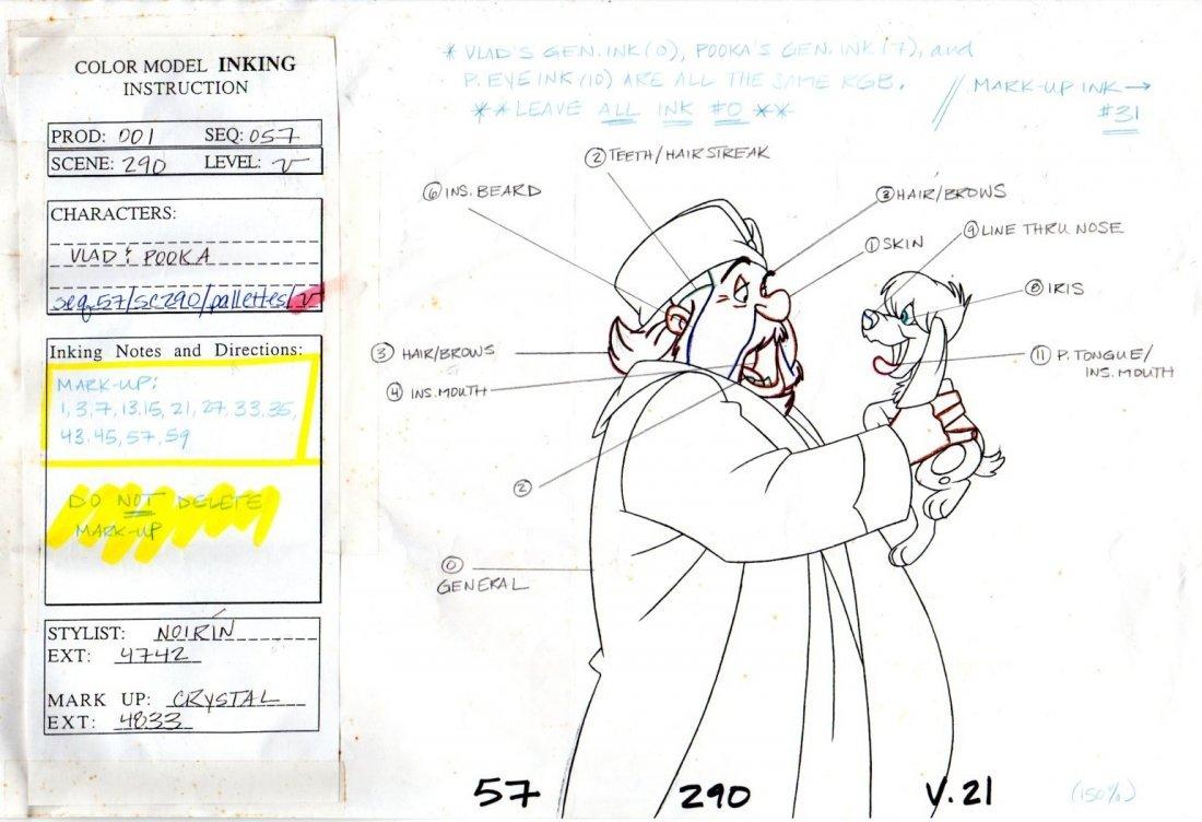 Model sheet from Anastasia 1997