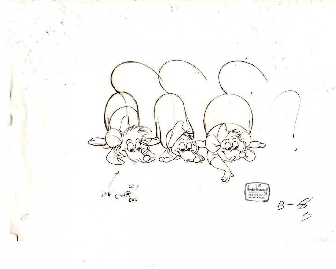 Original Disney Drawing of the mice of Cinderella 2
