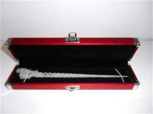 White Jade Hand Carved Hairpin with elegant display box