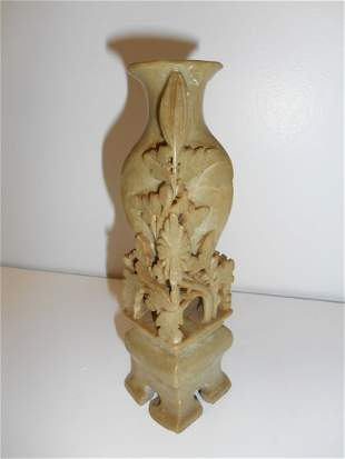 Hand Carved Soapstone Vase
