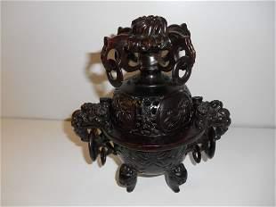 Vintage Soapstone Incense Burner