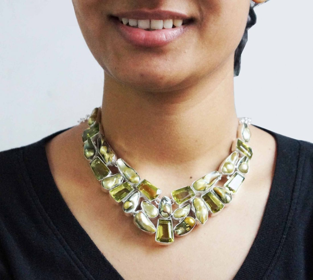 Beautiful Necklace with Citrine & Viva