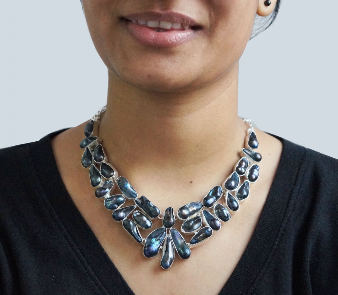 Beautiful Silver Necklace with Viva