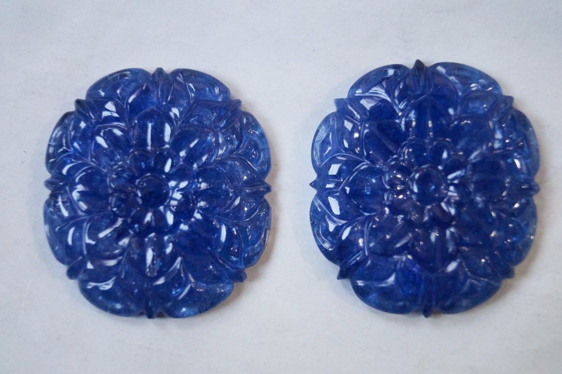 172 ctsTanzanite Carved Pair for Making Jewelry
