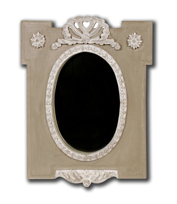 111: Mirror with Carved Frame