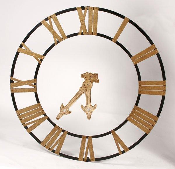119: Decorative Iron Rail Station Clock Dial