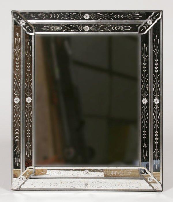 204: Venetian Style Mirror, Square