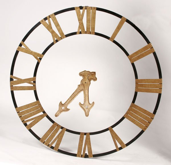 219: Decorative Iron Rail Station Clock Dial