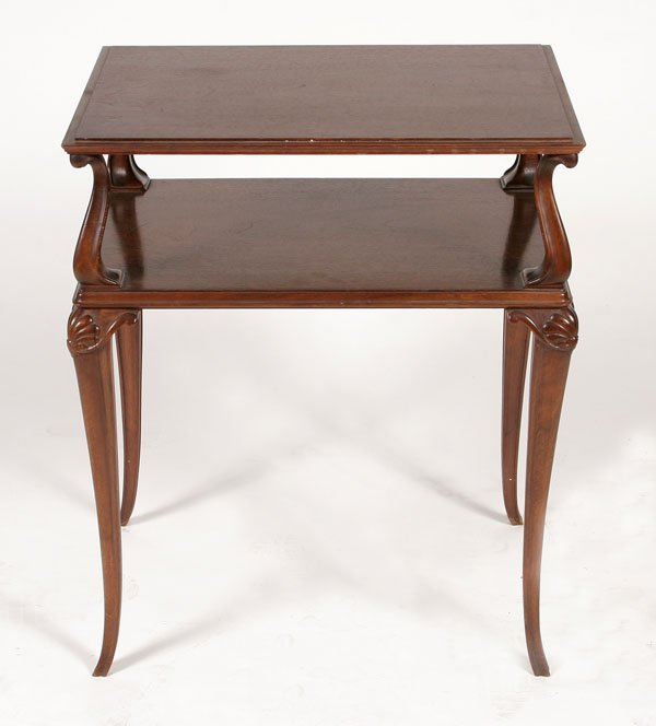 229: Two Tiered Petite Etagere Table