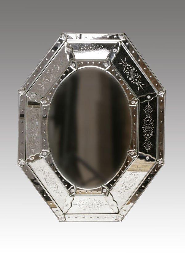 230: Venetian Style Mirror, Octagon Shape