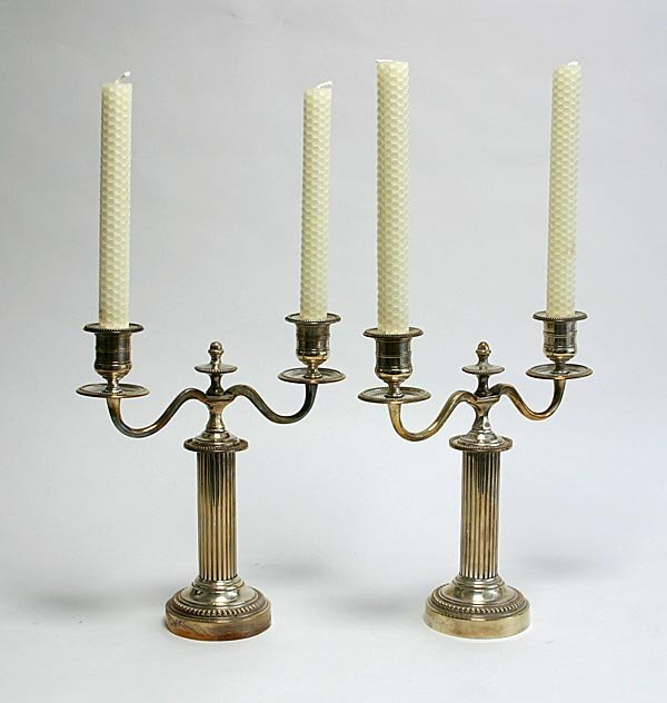 108: Pair of Silverplated Candle holders
