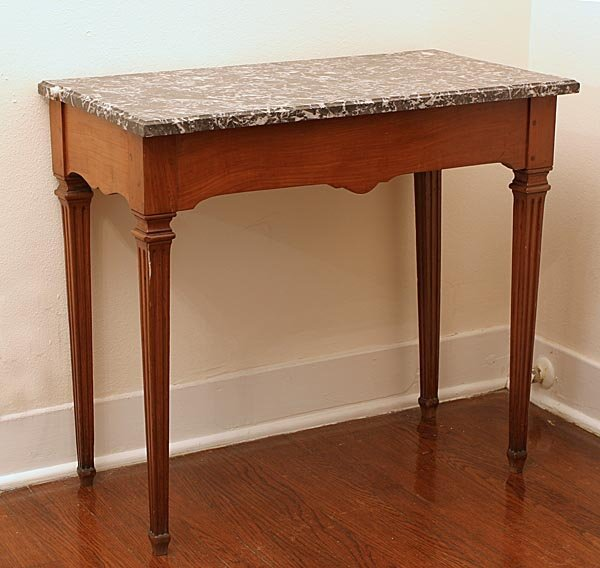 114: 18th c. Side Table with Marble Top