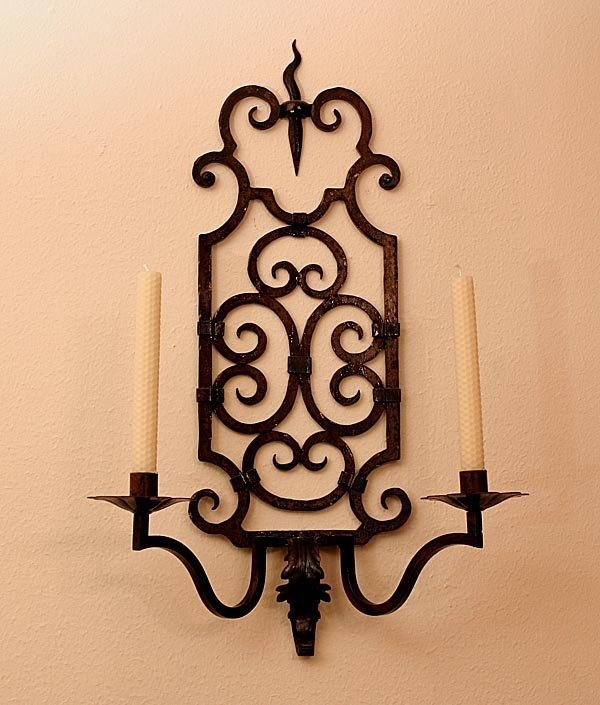119: Pair of Early Art Deco Iron Sconces