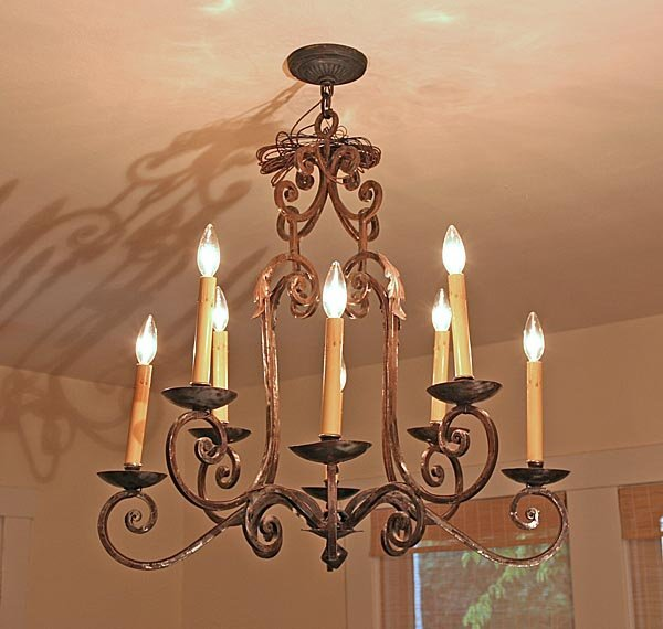 120: French Country Iron Chandelier