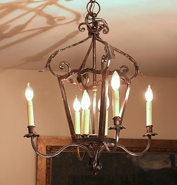 121: French Country Iron Chandelier