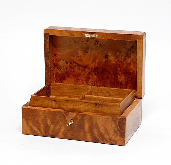 176: Handcarved Box with lock and key