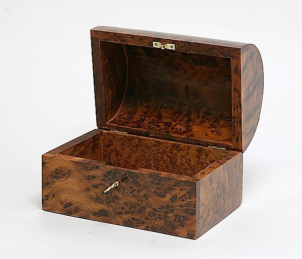 177: Handcarved Box with lock and key