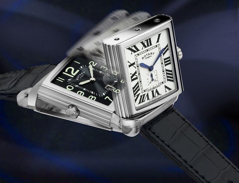 Rotary Swiss Made Reverso Men's Revelation Watch New - 2