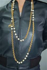 Authentic Chanel Vintage Necklace 72 Inches
