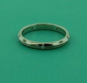 Tiffany & Co 18k White Gold Diamond Band Ring