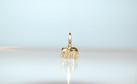 Cartier 18K Yellow Gold Elephant Pendant/Charm