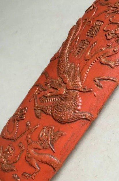 Antique Chinese Huizhou 'Hukaiwen' Cinnabar Ink Stick - 3