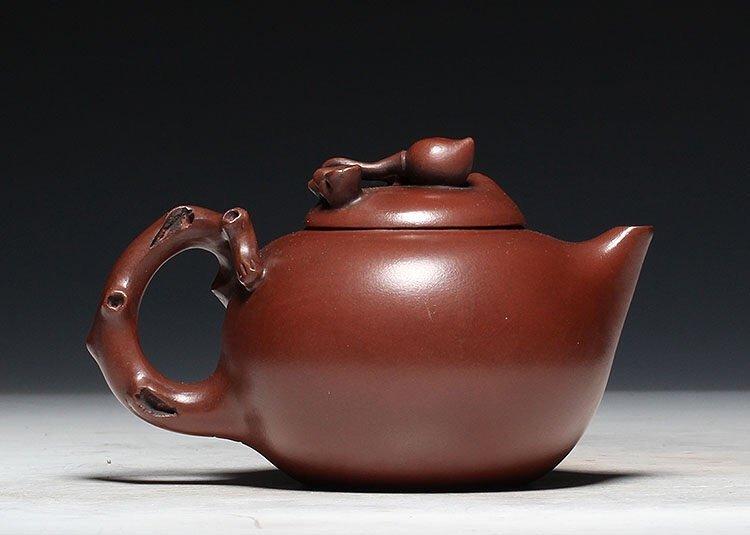 Chinese Carved Yixing Zisha Teapot - 3