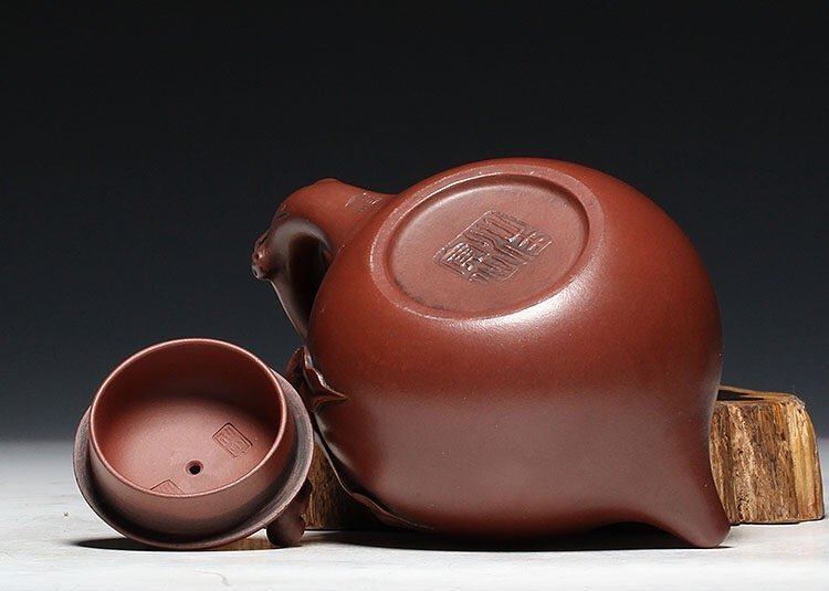 Chinese Carved Yixing Zisha Teapot - 7