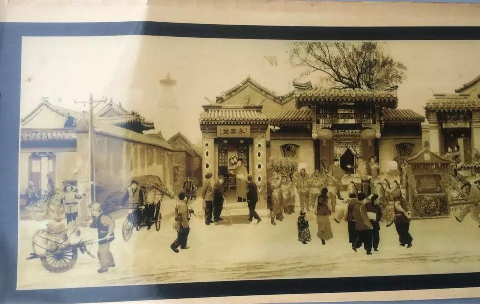 Old Chinese 'Beijing Hutong' Picture - 5