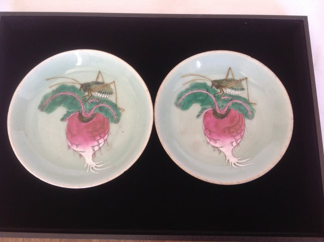 Pair of Antique Chinese Porcelain Plate