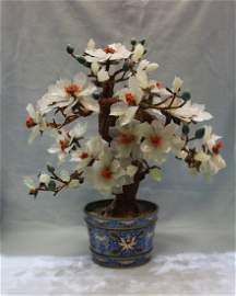 Large Antique Chinese Jade Tree