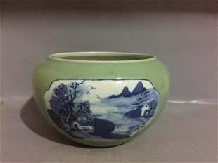 Antique Chinese Celadon-Glazed Washer