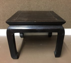 Antique Chinese Hardwood Square Low Side Table